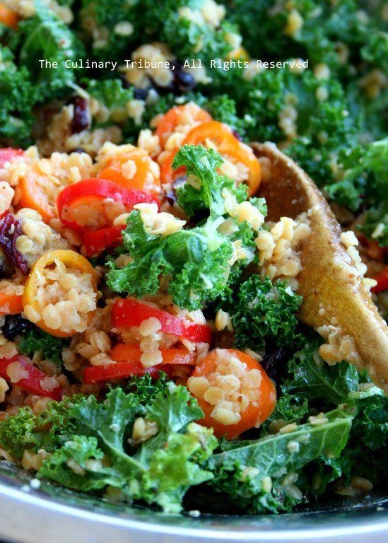 Kale Lentil Salad ケールとレンズ豆のサラダ
