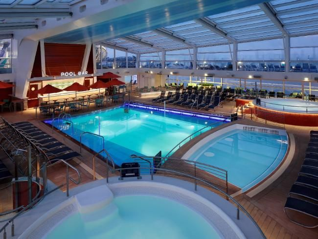 The coolest swimming pools at sea | Escape www.travelinshoes.com