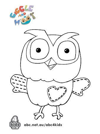 activities giggle and hoot print and colour abc4kids