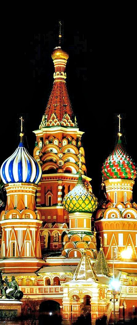 Saint Basil's Cathedral, Moscow ~ Domes of Russian churches look like ice cream cones