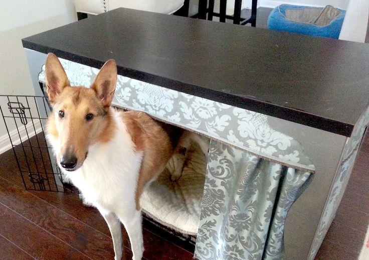 Decorative Dog Crate Cover Tutorial