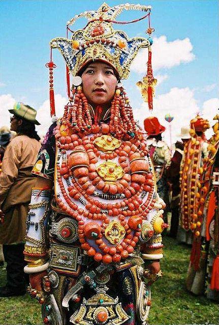 Litang costume parader by BetterWorld2010, via Flickr