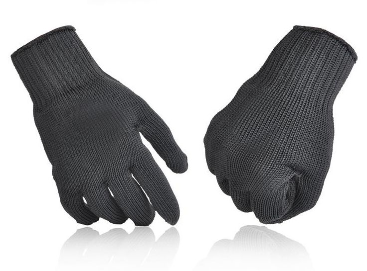 1Pair Anti-cut Outdoor Hunting Fishing Gloves Cut Resistant Protective Anti-cutting Hand Protection Mesh Gloves