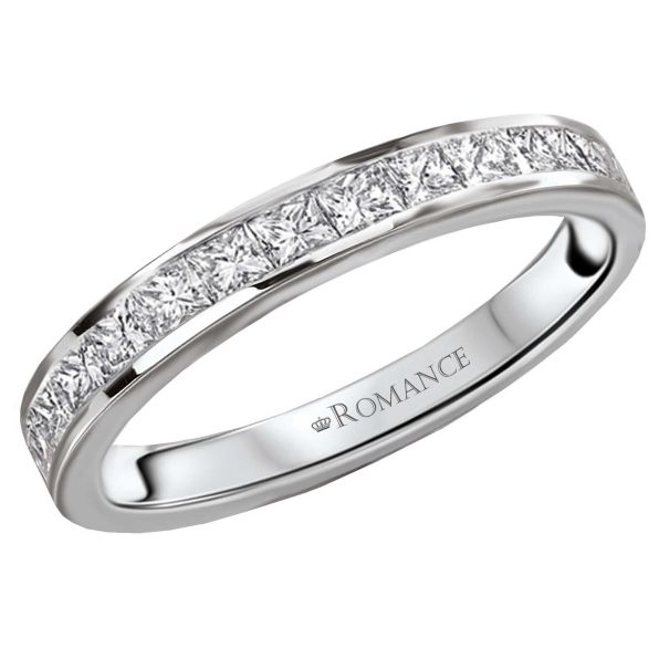 A Perfect Match To Ava Engagement Ring The Wedding Band Nails Minimalist Feel Featuring Channel Set Princess Cut Diamonds