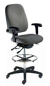 ESD Drafting Stool with High Back