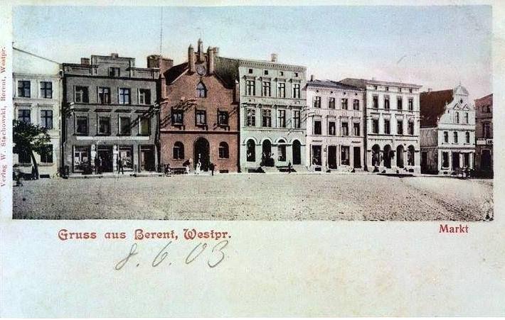 Kościerzyna (Berent Westpreußen) Rynek 1903 rok.