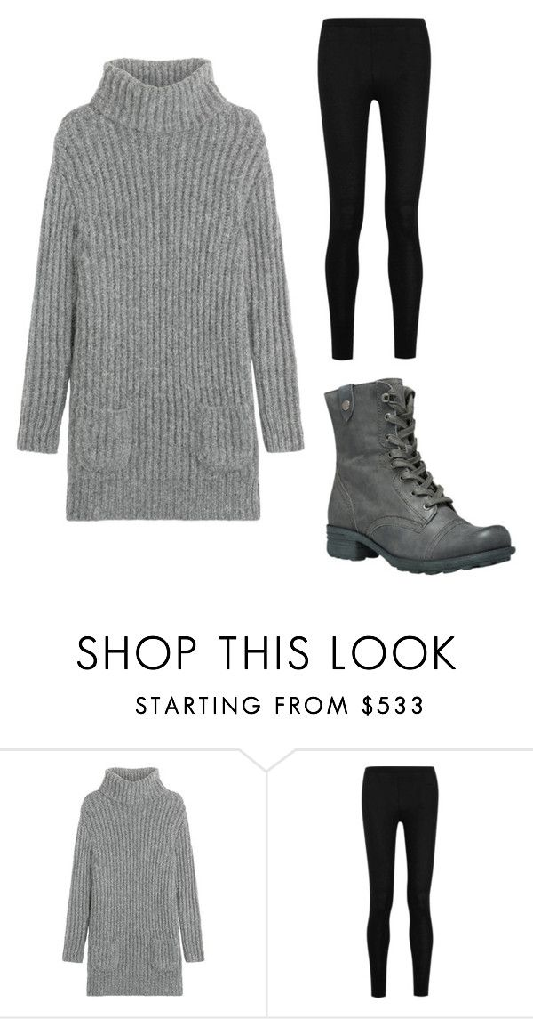"""""""Cute and Conservative Outfit/Sweater Dress, Tights, and Boots"""" by bluejay22 ❤ liked on Polyvore featuring TSE, Donna Karan and Cobb Hill"""
