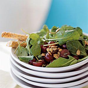 Arugula, Grape, and Sunflower Salad