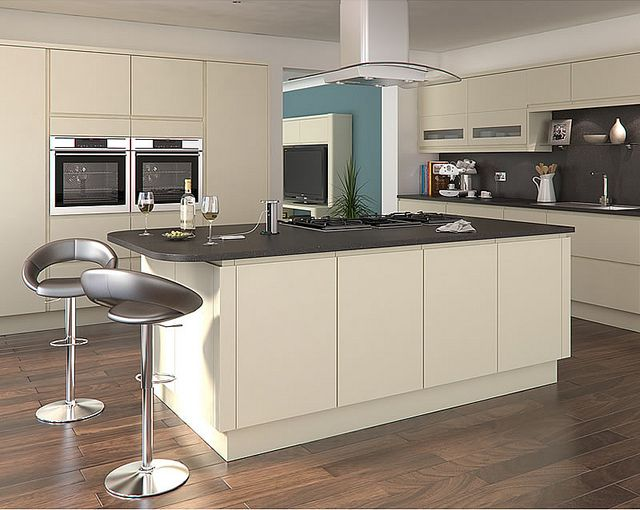 Luca alabaster kitchen for Cheap kitchen unit doors