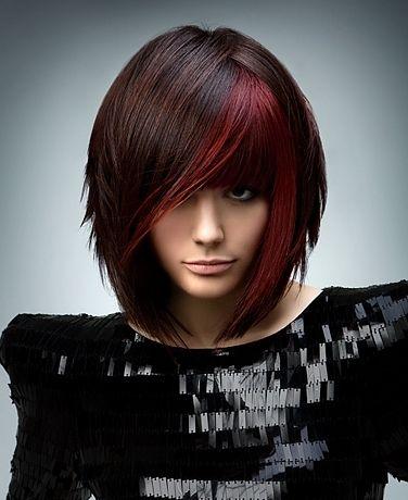 Dark Brown Hair With Red Streaks Hair Pinterest