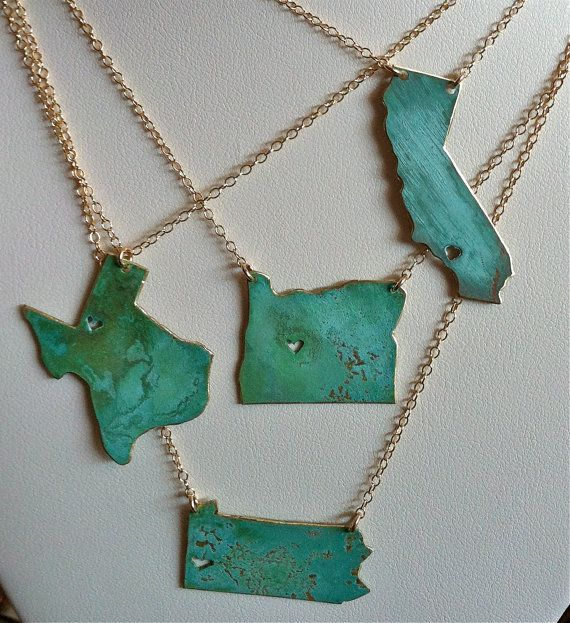 Live & Love Custom Necklace. You pick the States by NINOTCHKAgoods