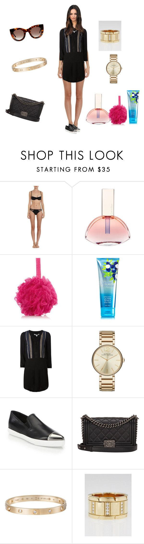 """""""Untitled #2257"""" by rine23 ❤ liked on Polyvore featuring Cosabella, Calvin Klein, Veronica Beard, Marc by Marc Jacobs, Miu Miu, Chanel, Cartier and Thierry Lasry"""