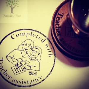 Round - Teachers Assistance stamp main image