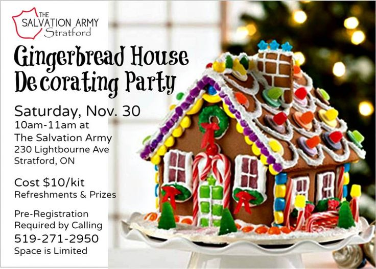 Our 2nd Annual Gingerbread House Decorating Party | Nov 30