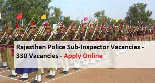 RPSC Rajasthan police department is hiring 330 SI Vacancies, Apply for Rajasthan Police Recruitment 2016-2017 form police.rajasthan.gov.in.