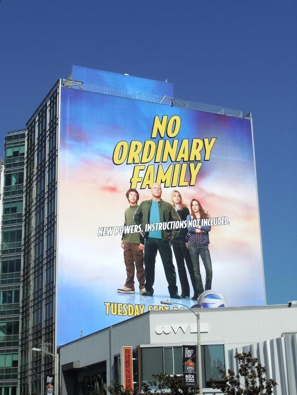 Giant No Ordinary Family TV billboard...