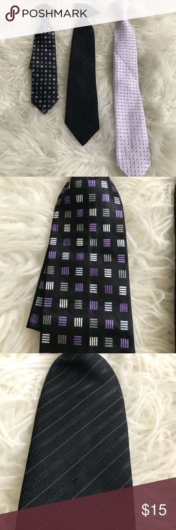 Boys clip on ties In great condition. Only worn once each. No flaws. Measurements shown in pictures. All Clip one. Accessories Ties
