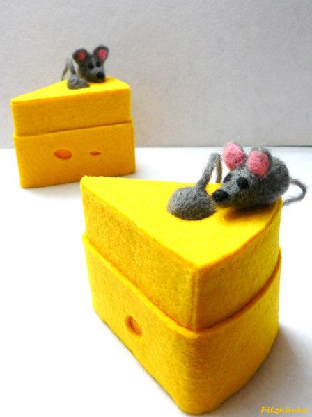 """Glückwunschkarten - Geburtstag-Geschenke-Box """"Mäuse"""" aus Filz - ein Designerstück von filz-kueche bei DaWanda"""