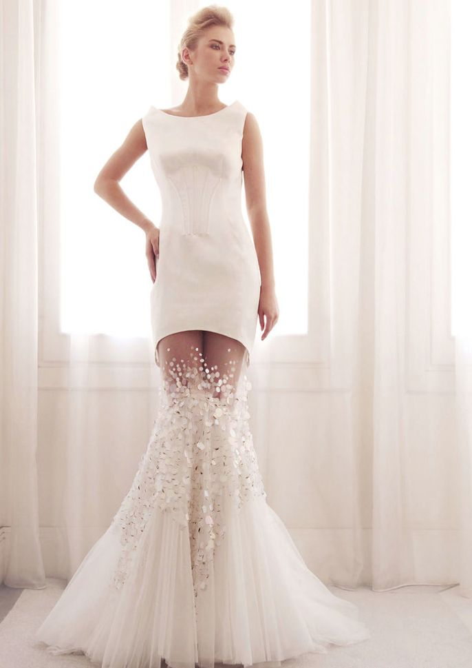 Gemy Maalouf Wedding Dresses 2014 Collection. To see more: http://www.modwedding.com/2014/07/02/gemy-maalouf-wedding-dresses-2014-collection/ #wedding #weddings #wedding_dress #gemymaalouf