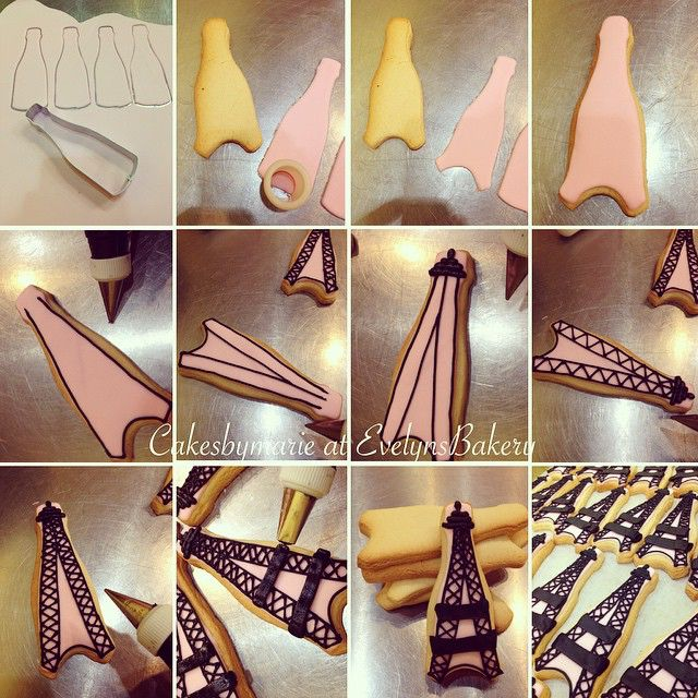 Here's how to do a simple Eiffel Tower cookie with a bottle cutter. If you can't find an Eiffel Tower cookie cutter but you have a wine bottle or regular bottle cutter no worries! You can do it this way!! Hope you like it! #tutorial#cakedecorating#cakedecorator#cakedecoratingtutorial#cookies#cookietutorial#eiffeltower#eiffeltowertutorial#marshmallowfondant#royalicing#cookiecutters#bottlecookiecutter#paris#paristutorial#stepbystep#inprocess#cake#fondant#pinkandblack#pink#evelyns_bakery…