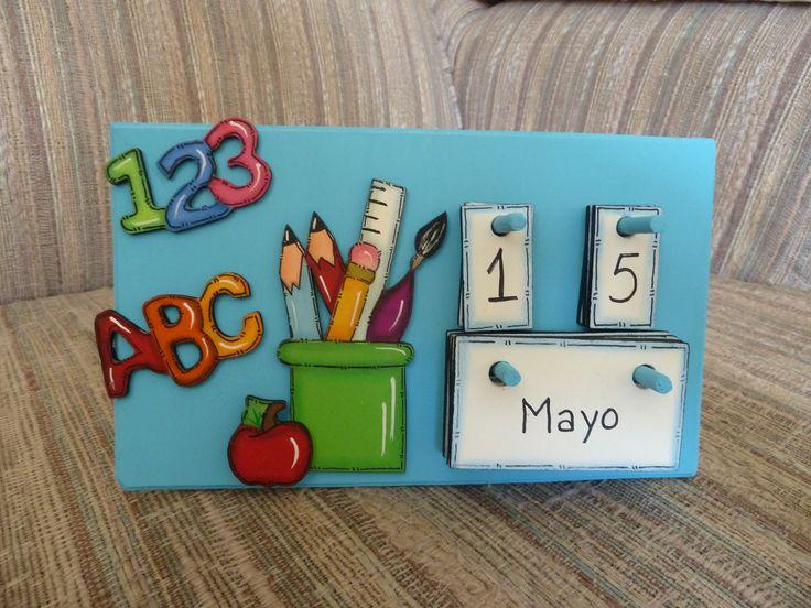 calendario para el día del maestro en mdf (madeiras) macamno1@hotmail.com