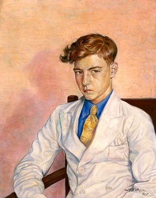 Portrait de jeune homme, 1935 by Jean-Philippe Dallaire (French-Canadian 1916 – 1965)