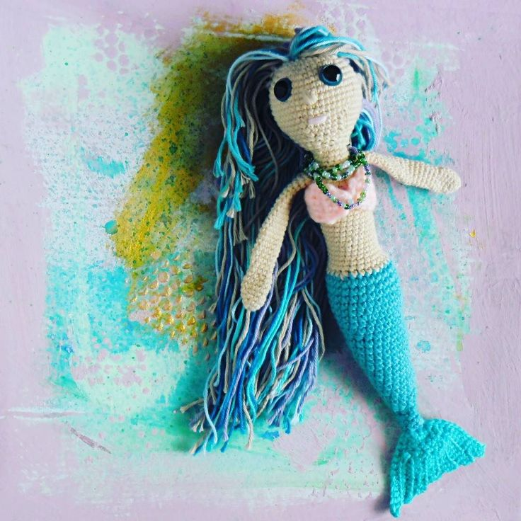 Mała #syrenka  #crochet #crochettoy #mermaid #toy #littlemermaid #seaandsand #underwater #ocean #GawraStefana