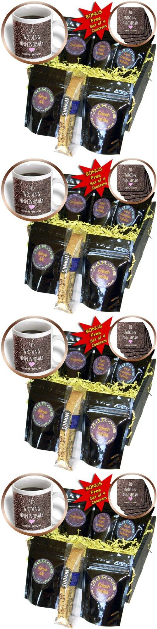 InspirationzStore Occasions - 3rd Wedding Anniversary gift - Leather celebrating 3 years together third anniversaries three yrs - Coffee Gift Baskets - Coffee Gift Basket (cgb_154430_1)