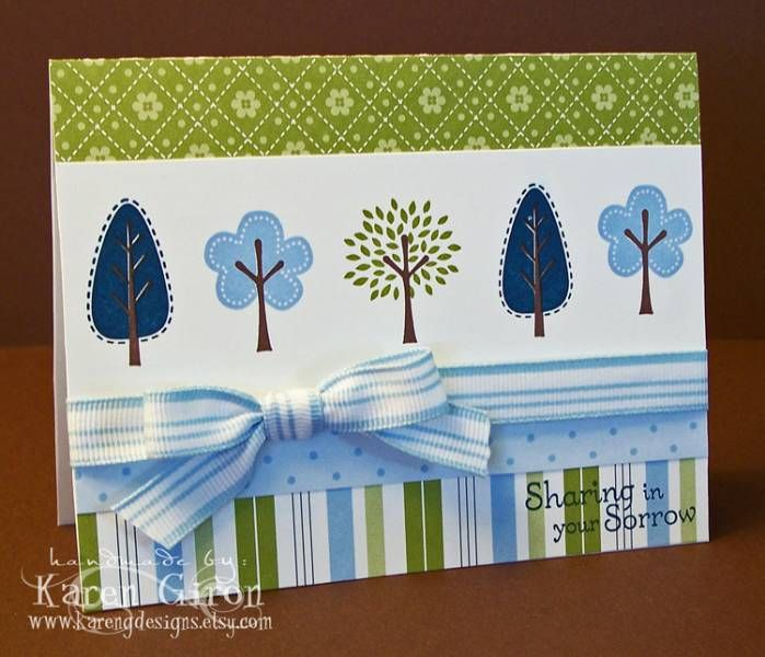 "Uses Stampin' Up!'s ""Trendy Trees"""