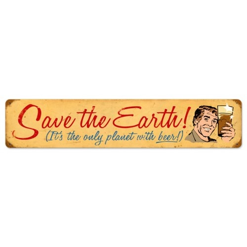 Save The Earth Vintage Metal Sign