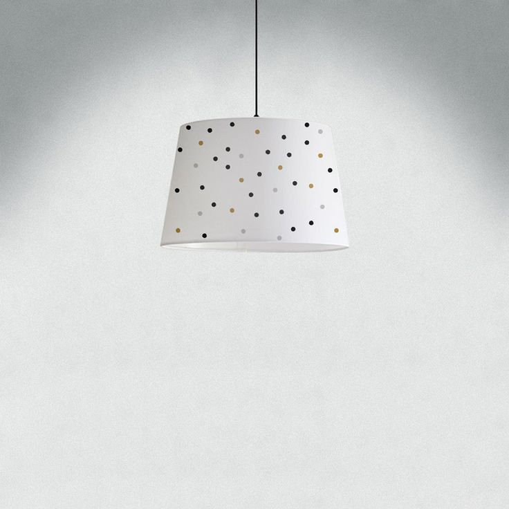 Nursery lamp shades 27 pinterest dots lamp shade black grey and gold colours choose your colours hand painted mozeypictures Gallery
