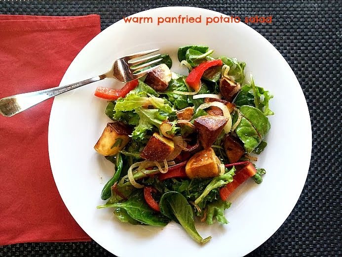 What a perfect dish for a cool end-of-winter night. Pan fried Yukon Gold potatoes; golden brown and crispy on the outside, creamy delicio...