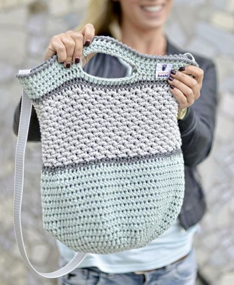 Anleitung für lässige Häkeltasche