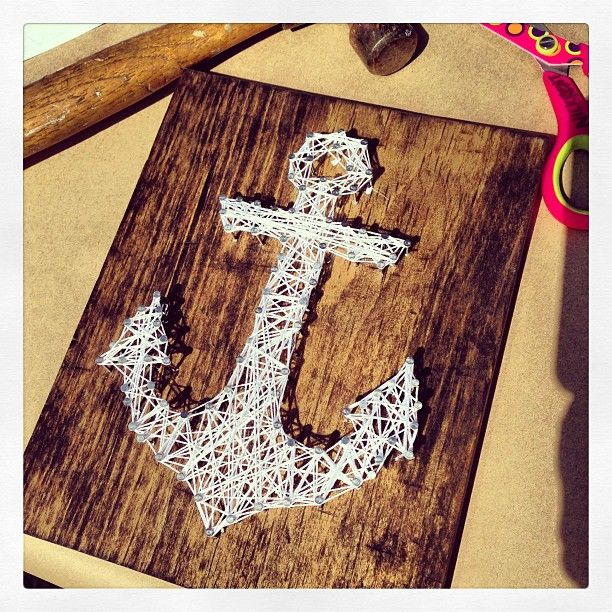 Anchor string art! With the word HOPE?