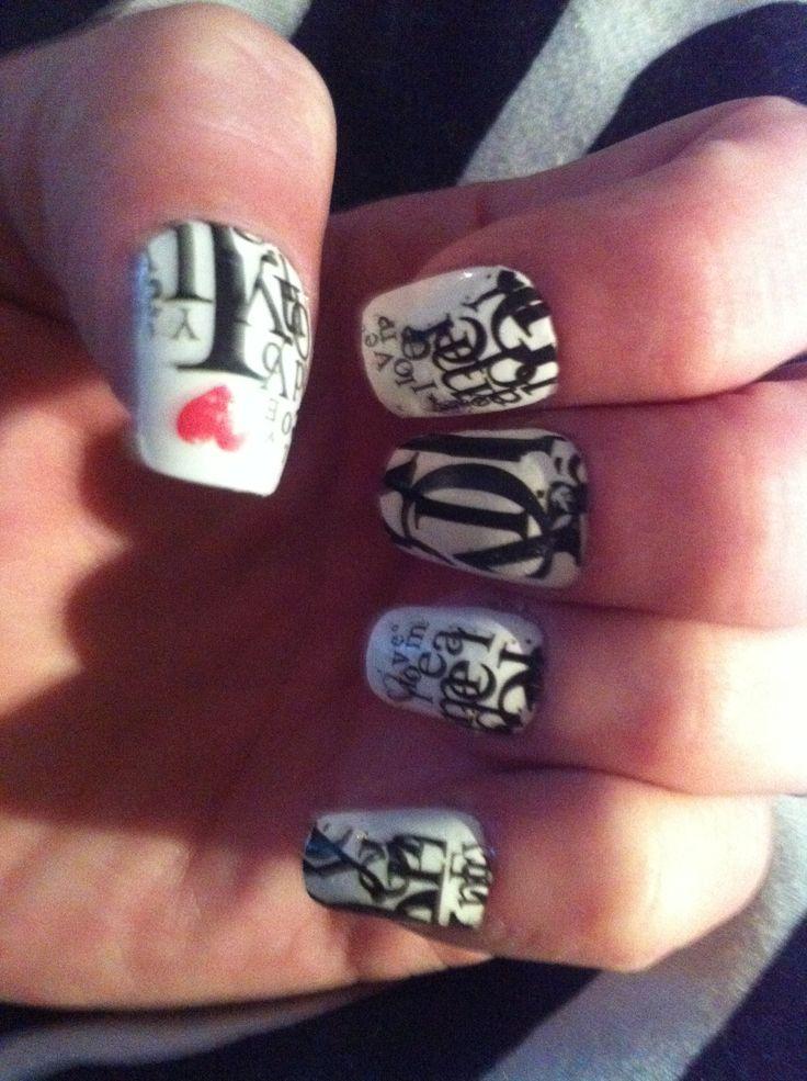 Nail tattoos not polish :)
