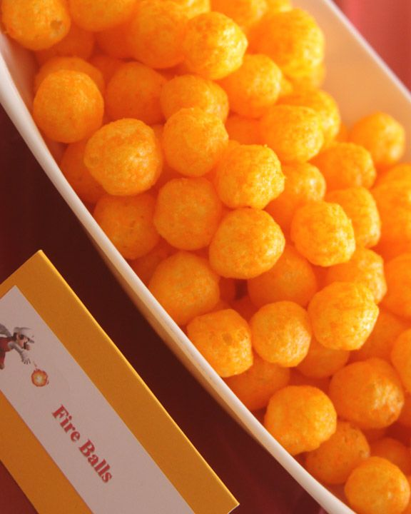 cheese puffs = fire balls