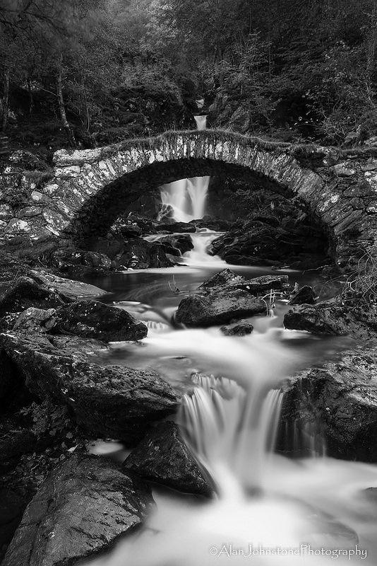 Ancient Crossing - The Roman or Packhorse Bridge in Glen Lyon, Perthshire