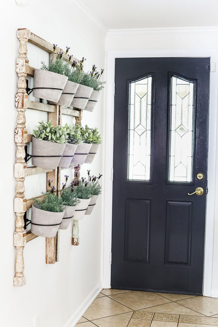 Outdoor wall planter ideas - Antique Banister Wall Planter