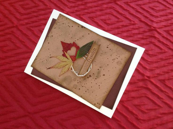 Stampin up Herbstzauber mit echten Blättern