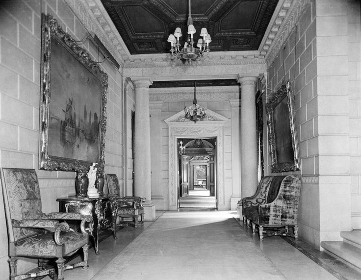 Frick residence - South Hall, 1927. The Frick Collection/Frick Art Reference Library Archives.