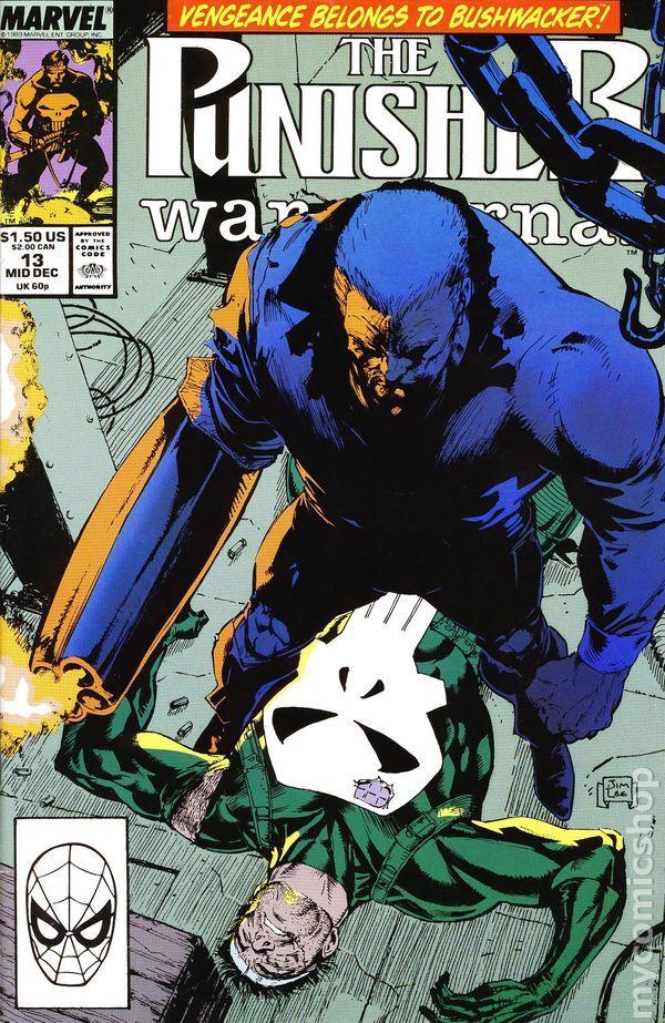 Punisher War Journal (1988 1st Series) 13 Marvel Comics Modern Age Comic book covers
