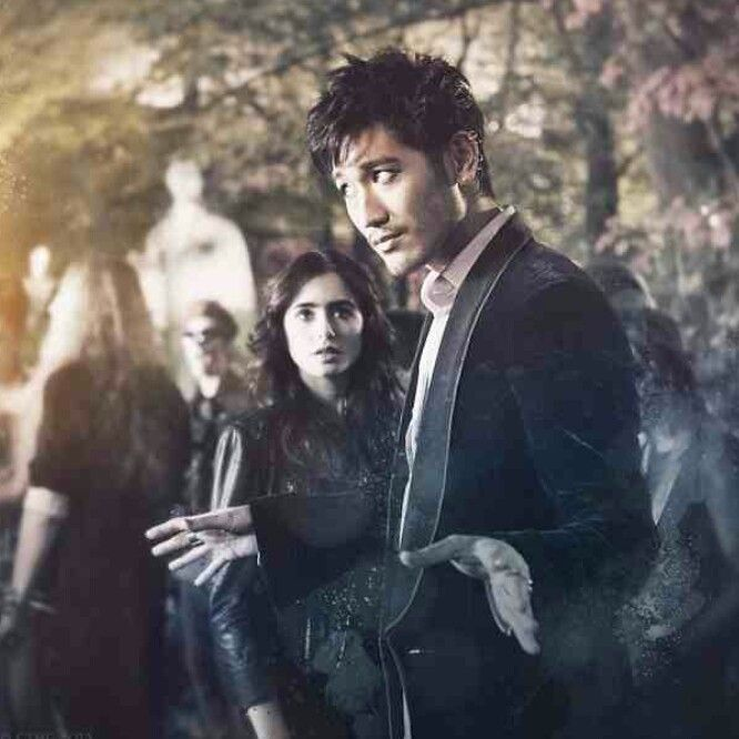 No-one can party half as good as Magnus - Magnus Bane and Clary Fray ☆ Godfrey Gao and Lily Collins - City Of Bones 2013