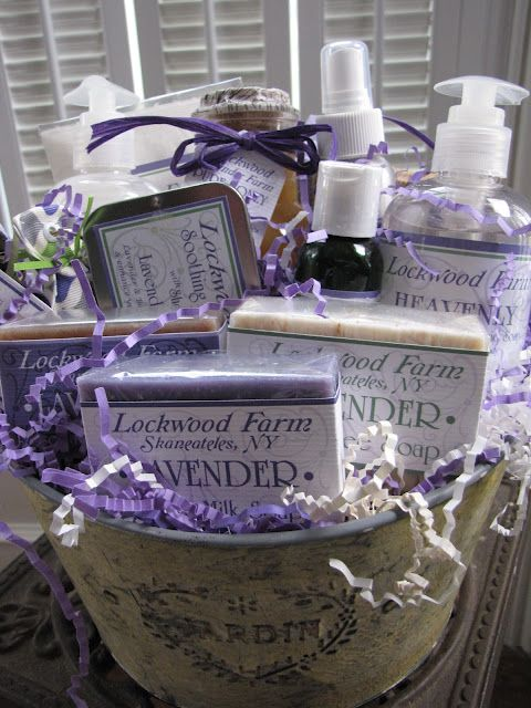 Gift Basket with Lockwood Lavender Products - Find the best lavender products at www.lullabylavender.co.nz/baby-skin-care