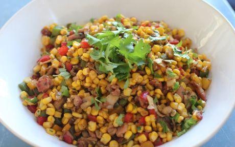 Ginger and Coriander Corn Salad Recipe by Siba Mtongana