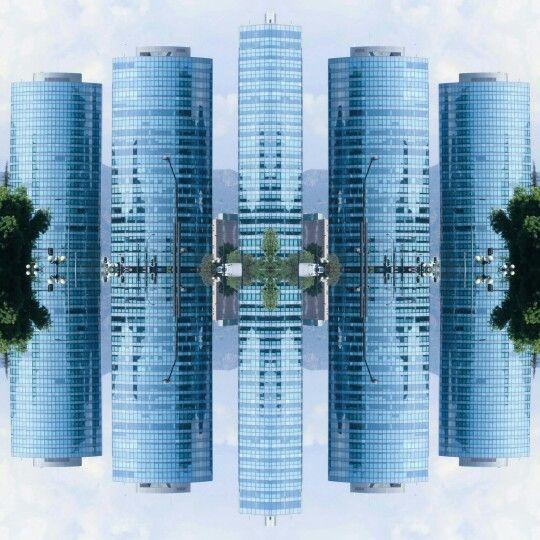 #BarrioFinanciero de la #ciudad de #Santiago de #Chile, edificios corporativos en el límite de las comunas de #LasCondes #Providencia y #Vitacura por avenidas #AndréBello y #NuevaTajamar #Sanhattan