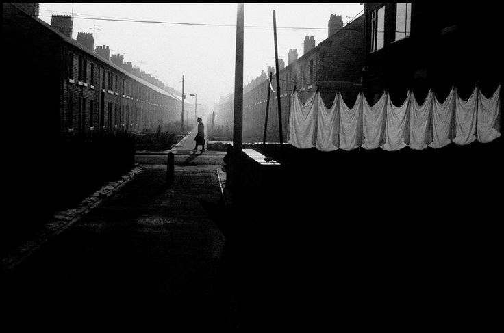 Ian Berry GB. England. Northumberland. Ashington. Back to back houses built for colliery workers at a time when the mines were thriving and almost all the men in the village worked down the mines. 1974