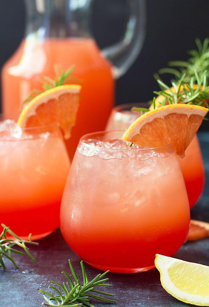 Grapefruit Sunrise Cocktail - Sweet , tart and so easy to make!