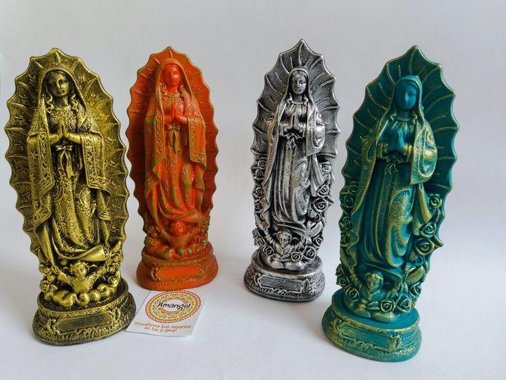 Virgen de Guadalupe  23 cm alto Pedidos al 3176552224 Redes sociales Facebook e Instagram Amangel Tienda