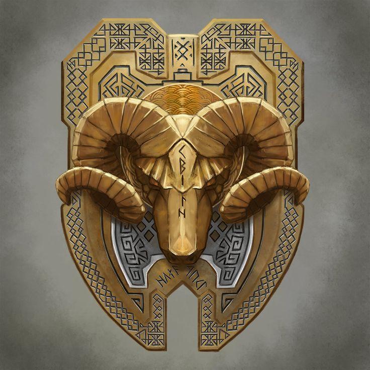 Dwarven Ram Shield by Seraph777.deviantart.com on @DeviantArt