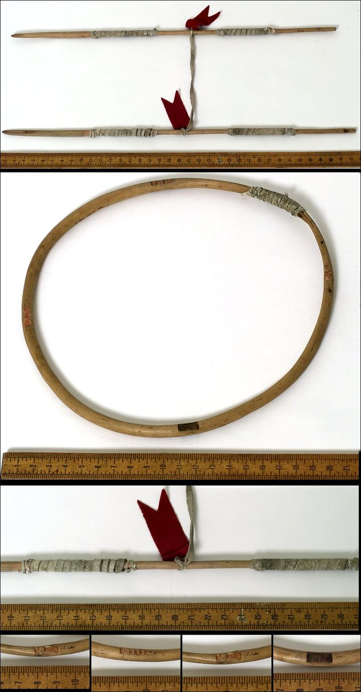 Lakota game (hoop game), from Fr. Bucherel Collection. Painyankapi.